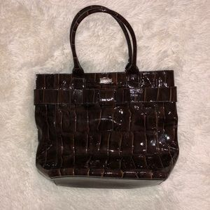 Kate Spade large brown snake print purse
